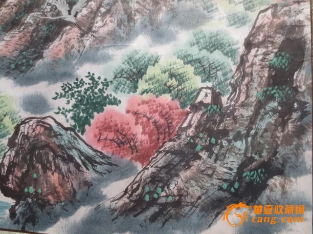 朝鲜手绘横幅油画风景