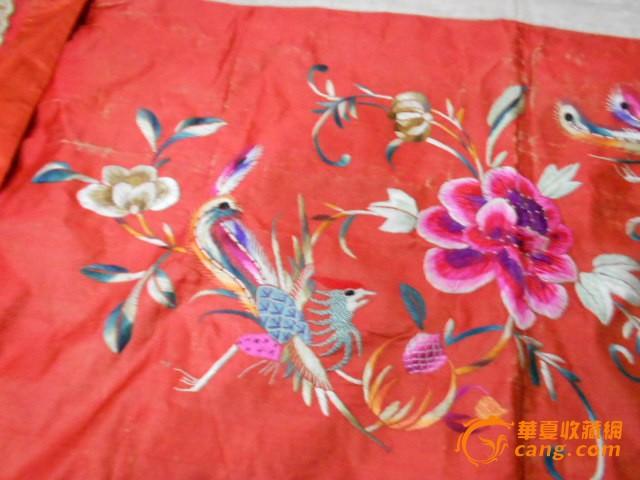 一块苏州的刺绣 凤穿牡丹图片