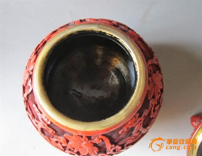 美国回流铜胎漆器茶叶罐图片