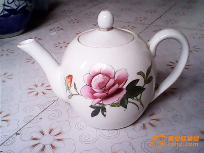 文革景德镇精美手绘大茶壶