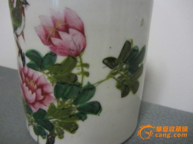 清晚期花鸟纹茶壶