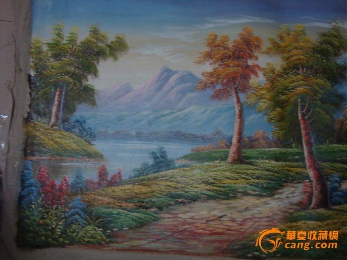 山水简笔画有颜色