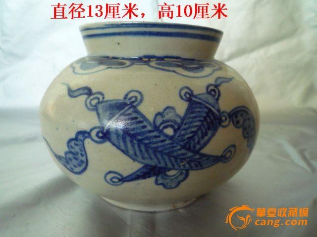朝鲜官窑青花罐图1