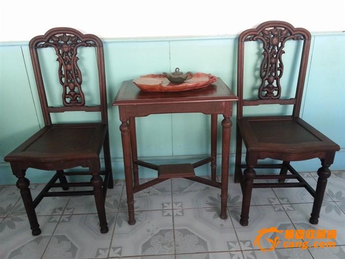 民国红木家具一套-俩椅子一茶几