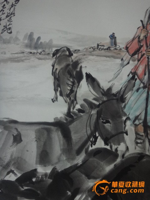 黄胄作品,牧驴图片