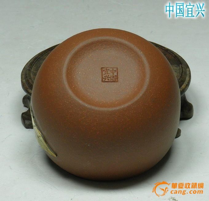 紫砂壶 国家级刘建明 全手工包金套壶 曲壶260CC
