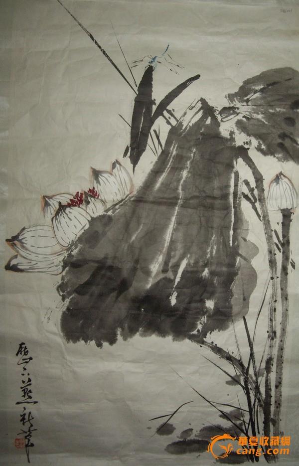 画家尹延新(已裱 画片)65分×39公分图片