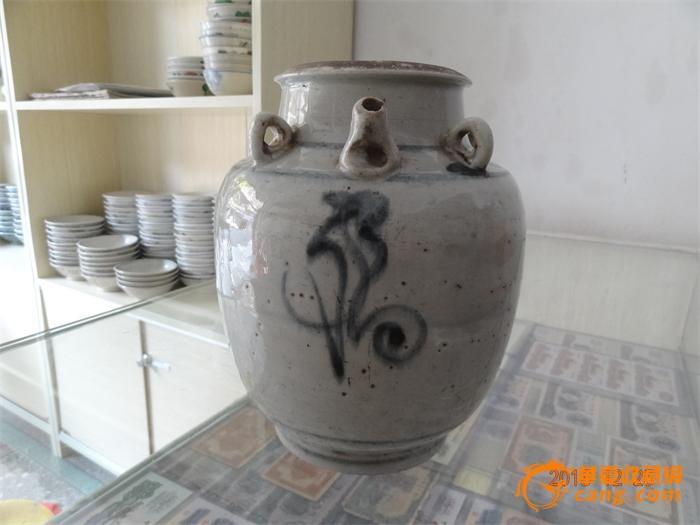 民国纯手工制作 青花 福字罐