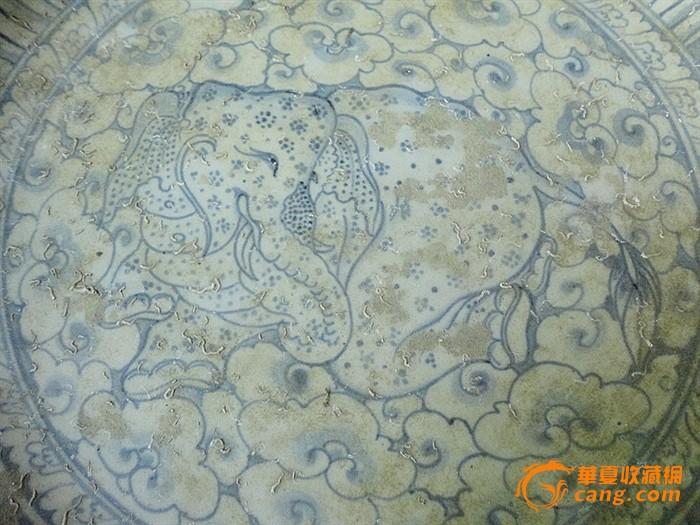 【巴蜀雅玩】-海捞-安南窑-精品重器-青花象纹大盘 假一罚十