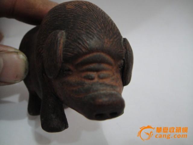 民国紫砂福猪摆件