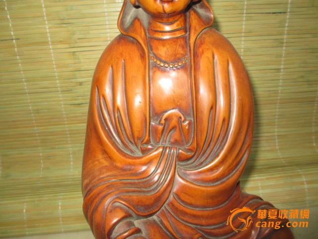 黄杨木雕观音