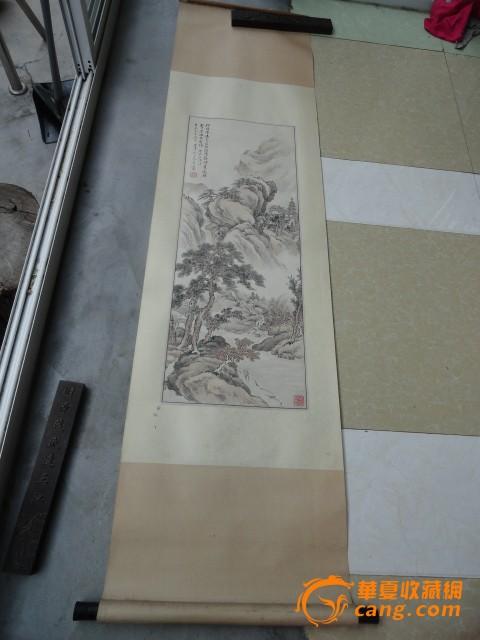 80年代精装裱晚清民国著名书画 山水人物作品图1