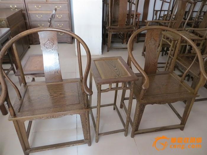 鸡翅木圈椅三件套,榫卯结构