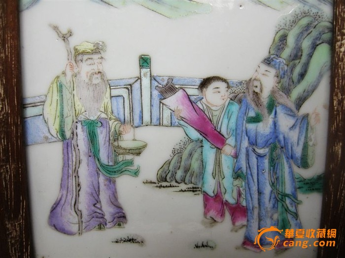 清代人物绘画小瓷板