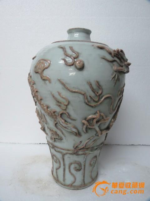 元代雕瓷云龙纹梅瓶图5