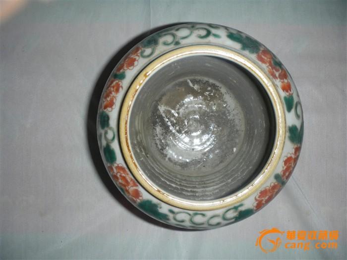 彩釉花卉瓷罐图7