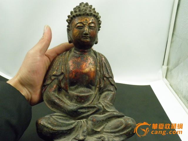 清晚期释迦尼铜佛像一尊!