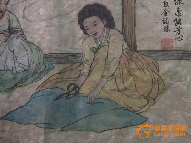 朝鲜人物故事画