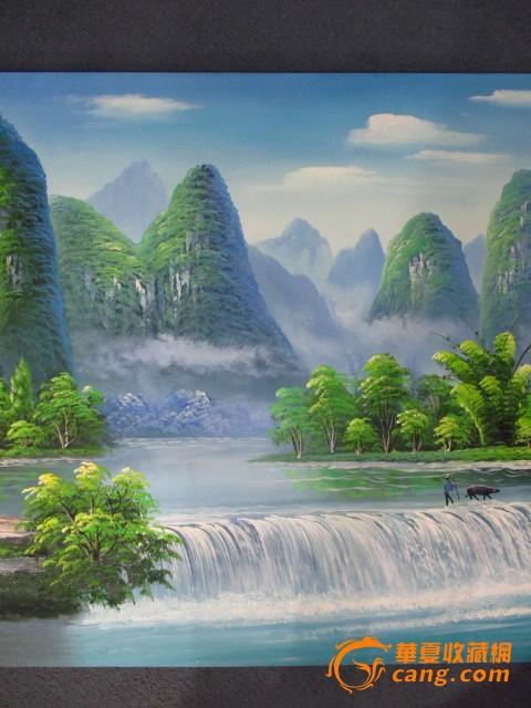 廖丹的桂林山水油画