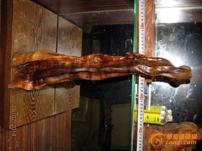 一个花纹极其漂亮的金丝楠木半边阴沉木摆件(贵州山涧