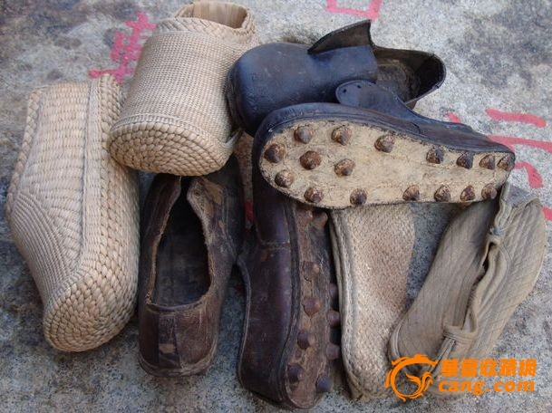 古代的鞋子4双 品相完好