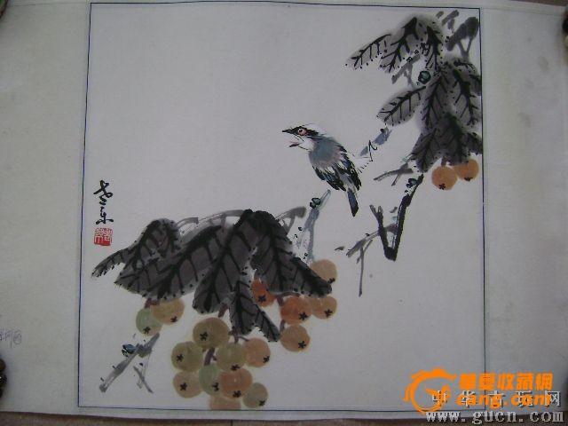 手绘工笔画花鸟图