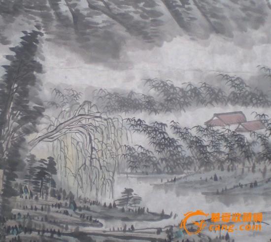 国画山水 竹林人家