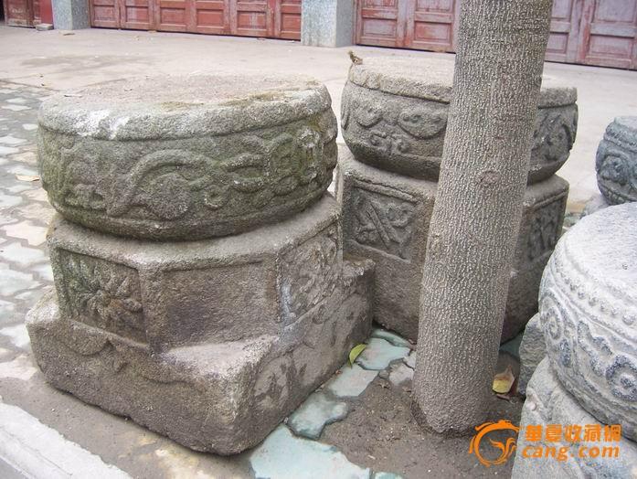 清代石雕420cm高柱子三对加座柱墩三对