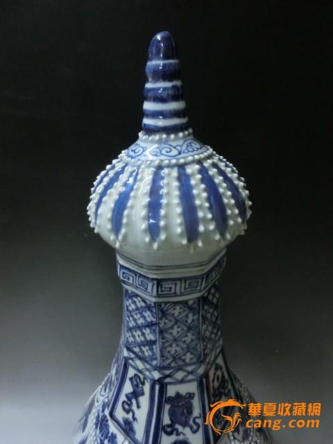 地摊 陶瓷 明清 珍珠宝塔青花瓶  编号 jy6822497 上传