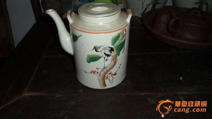 仙鹤松树壶