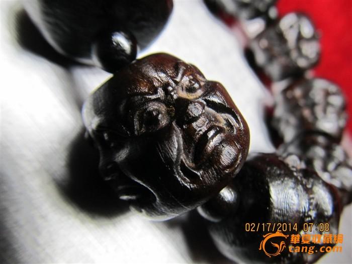 沉香 满雕工36神佛 传正能量 招财宝珠图1 高清图片
