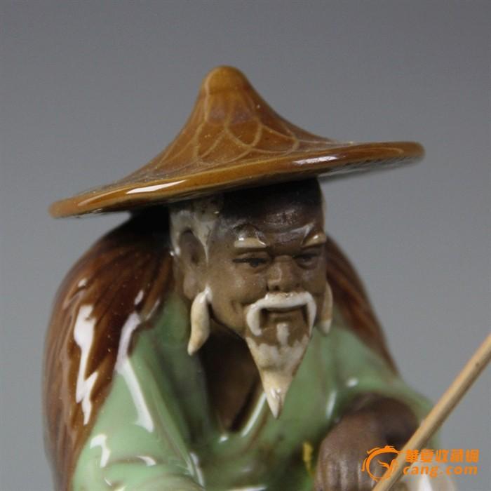 瓷器景德镇雕塑瓷厂 姜太公钓鱼图5 高清图片