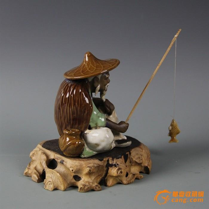 瓷器景德镇雕塑瓷厂 姜太公钓鱼图6 高清图片