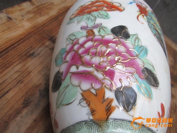凤穿牡丹花瓶图6
