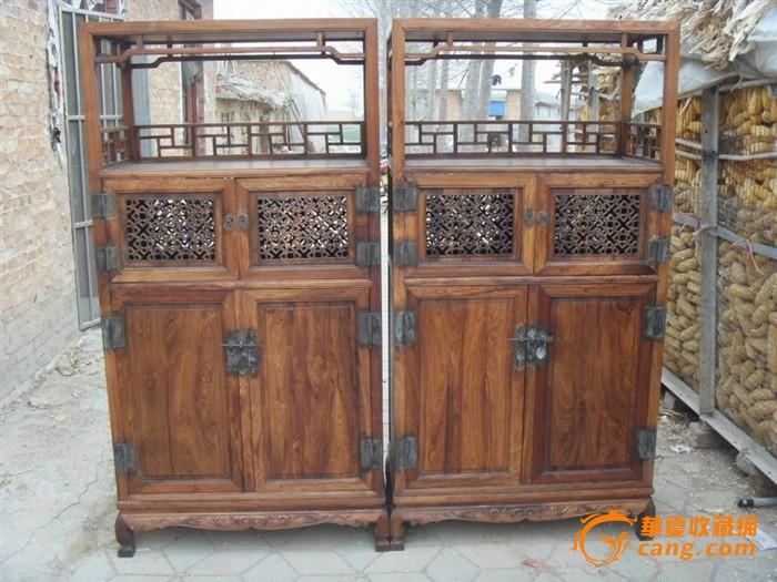 老家具明清家具古董木艺一对柜子图片