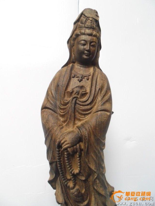 5公分重2200克越南印尼天然沉香木雕观音佛像摆件[不议价]    卖家