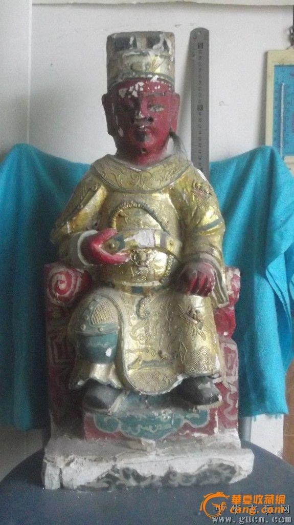 老佛像,香樟木雕刻,很大,老的