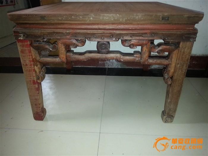 榉木小方桌图片