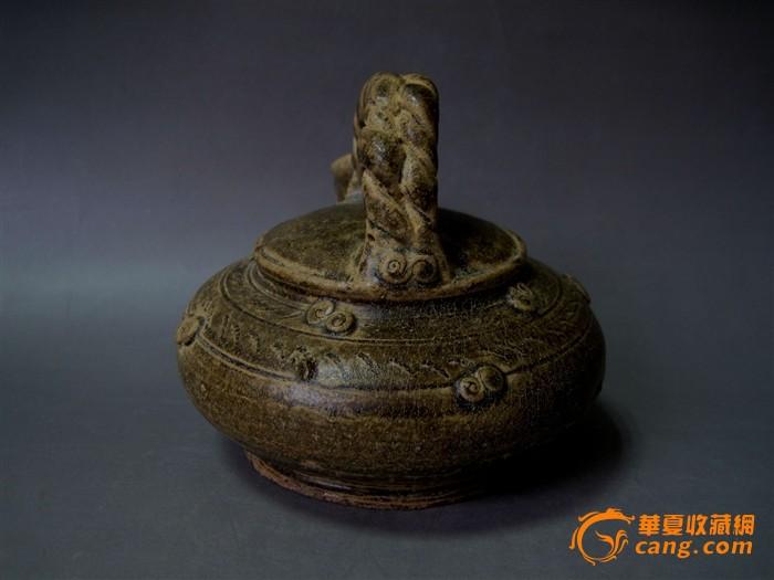 陶瓷西周原始青瓷提梁壶0075