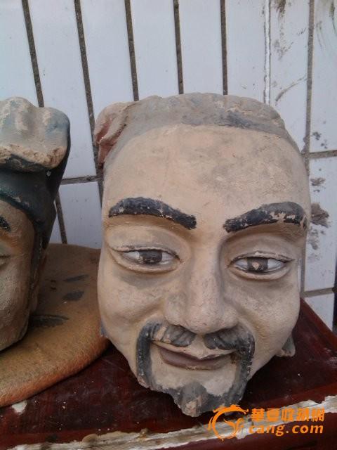 三泥塑头像