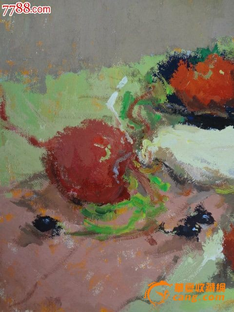 经典手绘画 老静物油画或静物水粉画原作一幅图4