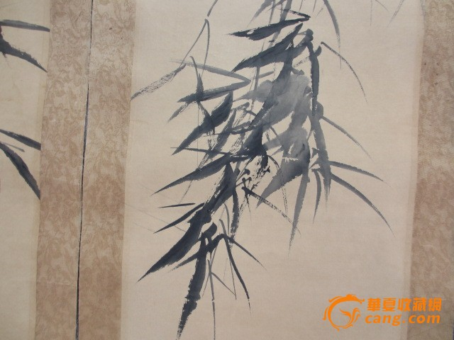 板桥竹子4条屏