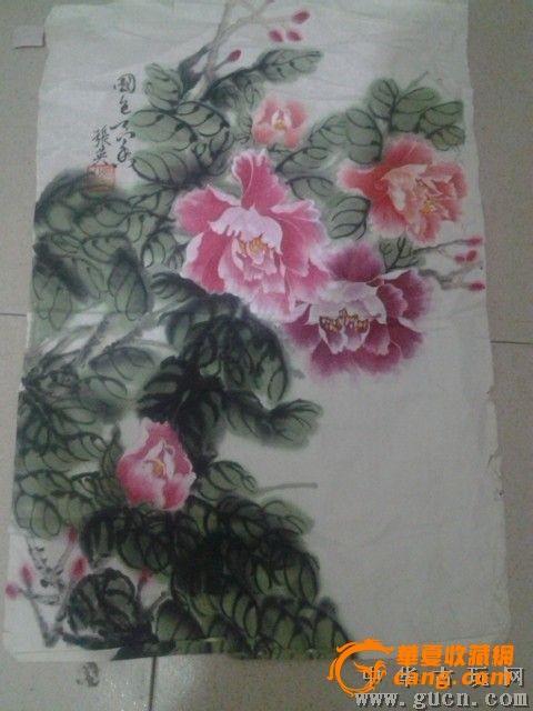 中国书画协会理事张英牡丹画76图1