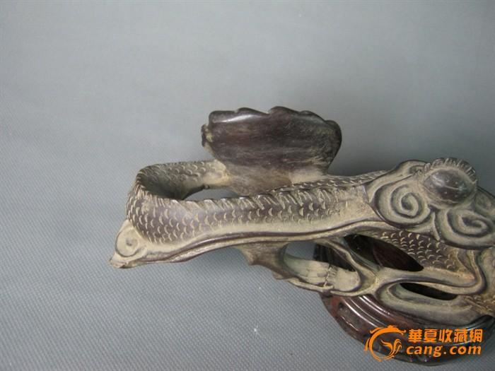 古董古玩收藏海外回流杂项木雕龙摆件/691