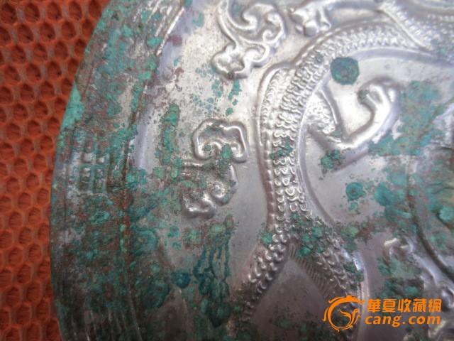唐代白银光龙纹镜