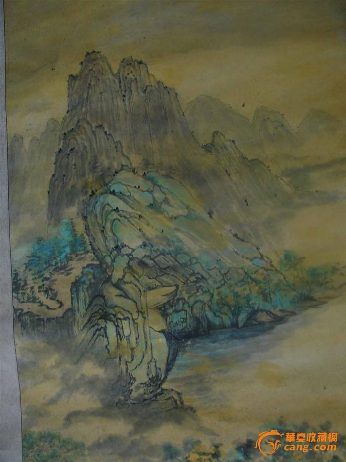本地画家的山水人物画