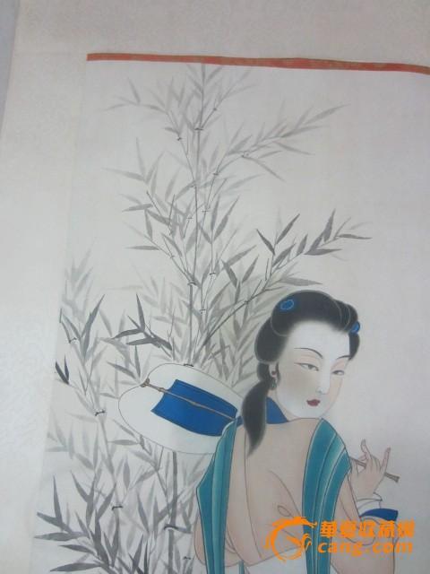 侍女工筆畫白描小品