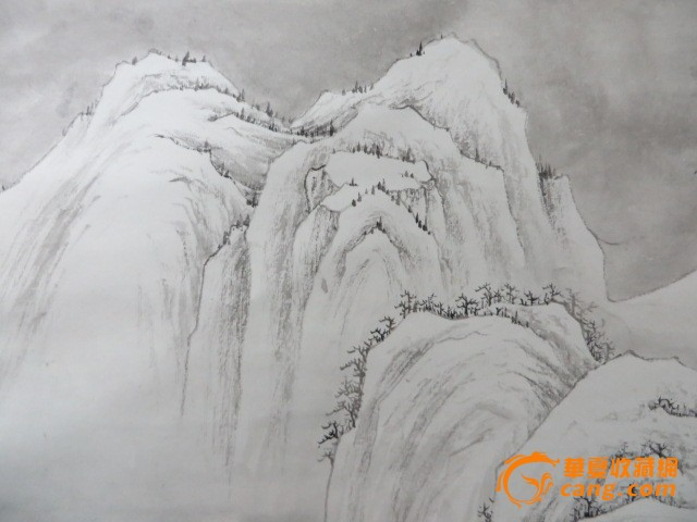 山水画 唐功 铅笔画