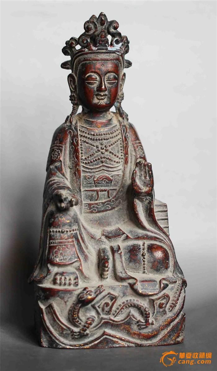 背款万历四十八年铜佛造像-图1