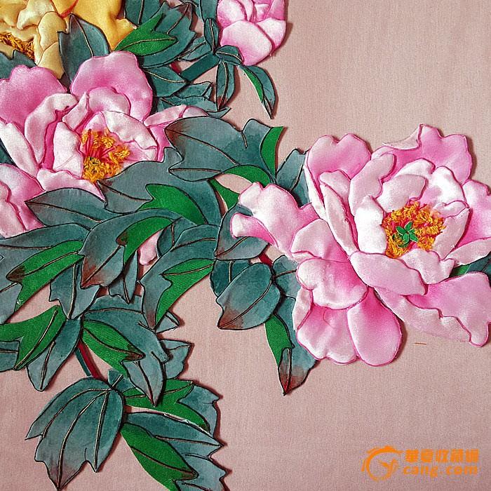布贴画-花开富贵